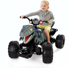 Check out the Power Wheels Jurassic World Dino Racer ATV Ride-On at the official Fisher-Price website. Explore the world of Power Wheels today! Atv Car, Vehicle, Atv Riding, Atv Accessories, Mattel, Toys For Boys, Boy Toys, Dino Toys, Kids Ride On Toys