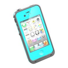 HESGI New Waterproof Shockproof Dirtproof Snowproof Protection Case Cover for Apple Iphone 4 4S Light Blue With A Free Hesgi Stylus HESGI