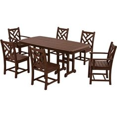 Complete your outdoor oasis with this eco-friendly dining set, perfect for backyard barbeques and relaxing afternoon cocktails.  Pro...