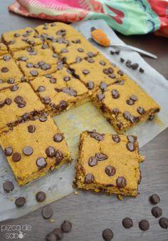 Pastel de calabaza con chocolate (sin gluten y lácteos) www.pizcadesabor.com