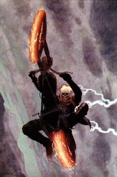 Ghost Rider Cover: Ghost Rider Marvel Comics Poster - 30 x 46 cm Comic Book Artists, Comic Book Characters, Marvel Characters, Comic Books Art, Comic Artist, Ghost Rider Johnny Blaze, Ghost Rider Marvel, Marvel Comics Art, Marvel Heroes