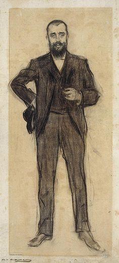Portrait Of Agapit Vallmitjana  Ramon Casas