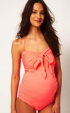 Second Trimester: ASOS Maternity Swimsuit With Bow
