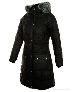 Barbour Archive Collection Women's Peninsula Down Coat - Black LQU0378BK91