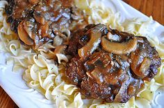 Smothered Hamburger Steak with Mushroom & Onion Gravy