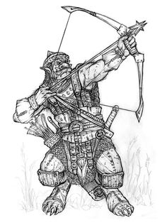 Hobgoblin Archer by Chris Burdett