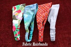 DIY fabric hairbands with elastic. A fat quarter easily makes two