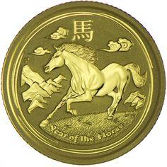 Pferd 1/10 Unze Gold 2014, AUD 15 9999/1000