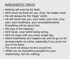 "Narcissistic sociopath relationship abuse - It's not 'HE' always! Abuse is never ""Gender specific""! In my case it's a ""SHE"" & ""HE"" both! My wife is a Covert Narcopath & my father an Overt Narco-Sociopath! Narcissist Victim, Traits Of A Narcissist, Narcissistic People, Narcissistic Behavior, Narcissistic Sociopath, Narcissist Quotes, Narcissistic Mother, Narcissistic Personality Disorder Relationships, Narcissist Friend"