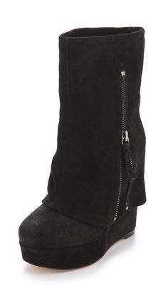 love love love!!! alice + olivia Yeardley Zip Cuff Boots  These would be great under my christmas tree ;)