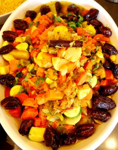 Couscous with dates and seven vegetables #HudsonValley #take out #to go #catering