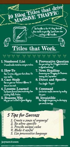 Ten blog titles that