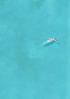 Belhoula Amir aka Cosmosnail: Alone Illustration Series - Alone (swimming pool) / 8 Art And Illustration, Dinosaur Illustration, Creative Illustration, Grafik Design, Oeuvre D'art, Les Oeuvres, Illustrators, Concept Art, Art Photography