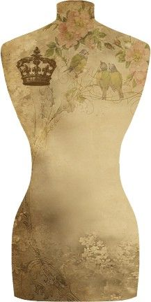 Dress for with crown, free to print From doigtsd-follie.fr buste310.jpg 217×432 pixels