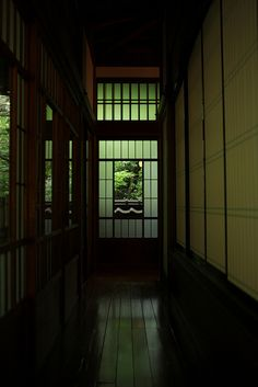 Japanese traditional residence- love the hallway. Japanese Interior Design, Japanese Design, In Praise Of Shadows, Washitsu, Aesthetic Japan, Japanese Architecture, Japanese House, Traditional House, Traditional Japanese
