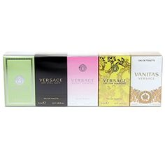 Versace Variety Gift Set Versace Versense EDT 5 ml,Versace Crystal Noir EDT 5 ml Versace Bright Crystal EDT 5 ml Versace Yellow Diamond EDT 5 ml Versace Vanitas EDT 4.5 ml
