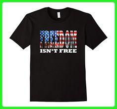 Mens Cool American Flag Shirt Freedom Isn't Free American Flag XL Black - Cities countries flags shirts (*Amazon Partner-Link)