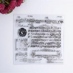 Cheap 2016 nuovo Scrapbook Album di Foto DIY Conto Trasparente della Gomma di Silicone Timbri Trasparenti Musica, Compro Qualità Francobolli direttamente da fornitori della Cina: dimensioni: 13.5x13.5 cm