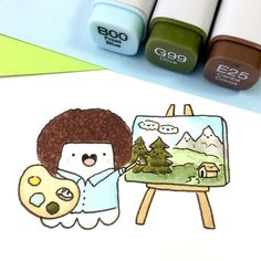 Omg! Bob Ross Spooky. I started watching his series The Joy of Art