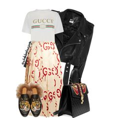 A fashion look from December 2016 by stylebyteajaye featuring Gucci and Vetements