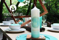 Hochzeitskerzen & Beleuchtung - Hochzeitskerze - ein Designerstück von Machs-Licht-an bei DaWanda