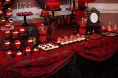 New elegant bridal shower desserts table ideas Red Party Themes, Red Party Decorations, Cake Table Decorations, Bridal Shower Decorations, Dessert Tables, Ideas Party, Red Bridal Showers, Bridal Shower Desserts, Elegant Bridal Shower