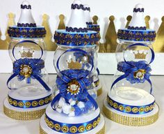 Royal Prince Baby Shower Centerpiece / Boys by PlatinumDiaperCakes