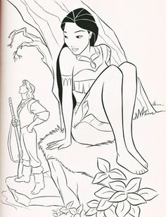 Walt Disney Coloring Pages - Captain John Smith & Pocahontas wallpaper probably containing comic book in The Walt Disney Characters Club Mickey Coloring Pages, Disney Princess Coloring Pages, Disney Princess Colors, Coloring Book Art, Christmas Coloring Pages, Colouring, Pocahontas Drawing, Disney Pocahontas, Disney Art