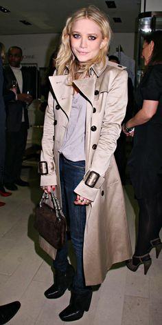Mary Kate Olsen in Burberry <3
