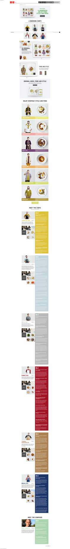 Layouts and top nav bar with search - http://www.uniqlo.com/us/lifetools/recipe/