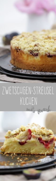 #crumble #quark #kuchen #pflaumen #zwetschgen #streusel #walnüsse #rezept