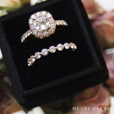 This ring belongs on your finger!  . . . . . #Diamonds #jewelry #wedding #weddingset #bride # @henridaussi