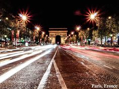 Paris is filled with romance. How about a nighttime stroll along Champs-Élysées?