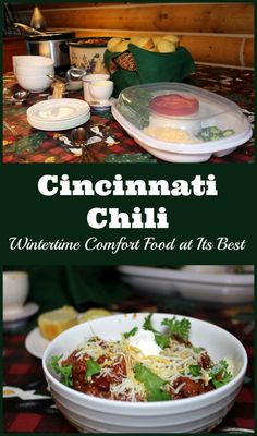 Cincinnati Chili is wintertime comfort food at its best.  You can take it to go or easily serve toppings thanks to Rubbermaid Party Platter. #TraditionsToGo #Ad