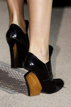 wooden heels @ John Galliano spring summer 2013 #PFW Paris #Fashion Week