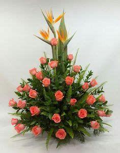 Tropical Floral Arrangements, Large Flower Arrangements, Funeral Flower Arrangements, Tropical Flowers, Altar Flowers, Church Flowers, Funeral Flowers, Paper Flowers, Deco Floral