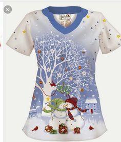 UA Snow Much Love White Print Scrub Top- i must find this by Dec. Cute Medical Scrubs, Vet Tech Scrubs, Nurse Scrubs, White Scrub Tops, Christmas Scrub Tops, Stylish Scrubs, Scrubs Uniform, Scrub Hats, Womens Fashion For Work