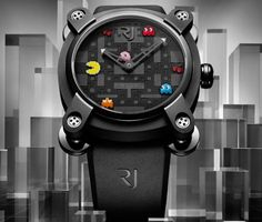 RJ-Romain Jerome Pac Man Watch - The RJ-Romain Jerome Pac Man watch is a limited-edition item, with only 80 available for purchase. Pac Man is a popular video game that sparks nost. Space Invaders, Pac Man, Estilo Geek, Romain Jerome, Luxury Watches For Men, Cool Watches, Man Watches, Ladies Watches, Fancy