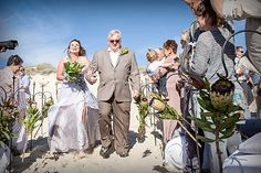 The Beautiful Annette walking down the wedding aisle with her father. Bridesmaid Dresses, Wedding Dresses, Professional Photography, Engagement Photography, West Coast, Beach, Father, Walking, Pictures
