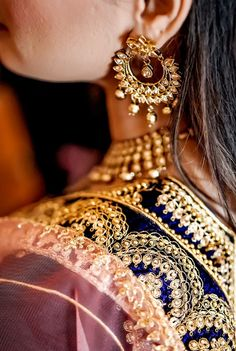 "Photo from album ""Wedding photography"" posted by photographer VikhyathMedia Wedding Earrings, Wedding Jewelry, Lehenga Wedding, Lehenga Saree, Indian Wedding Photography, Wedding Preparation, Photo Jewelry, Mehendi, Real Weddings"