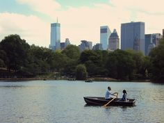 Summer idea: Boating in Central Park