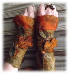 acorn fairy cuffs - forest cuffs - fairy cuffs