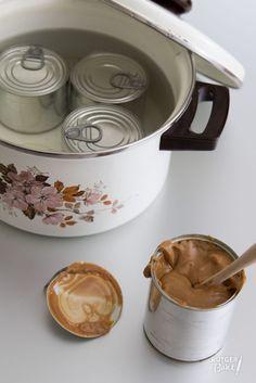 Dulce de leche ( caramel) zelf maken met blikje gezoete gecondenseerde melk