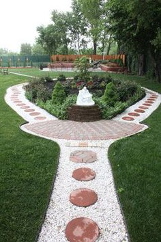 It 39 s a rosary garden this is a great idea we love for Prayer garden designs