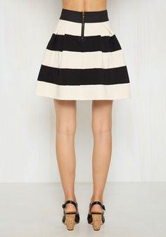 black white mango striped blazer yellow skater skirt | BLACK ...