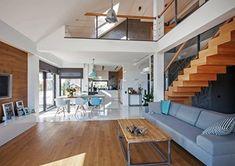 Salon styl Nowoczesny - zdjęcie od DOMY Z WIZJĄ - nowoczesne projekty domów