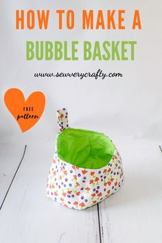 How to Make a Bubble Basket - Learn to make this adorable storage pod or bubble basket in not time using basic sewing skills. Small Sewing Projects, Sewing Projects For Beginners, Sewing Hacks, Sewing Tutorials, Bag Tutorials, Tutorial Sewing, Sewing Tips, Fabric Storage Baskets, Sewing Baskets