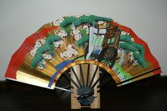 Decorative Japanese Fan - different front and back  from my official trip to Japan late 1970s.