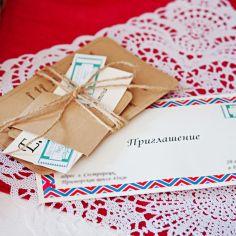 В цвете любви: свадьба Иры и Никиты/ Craft wedding invitations