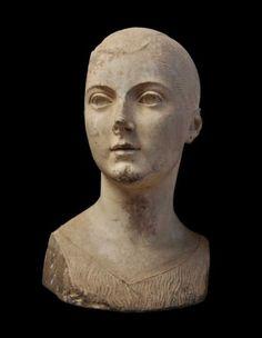 Fanciulla Torlonia, a rare sculpture from the Etruscan civilisation (8th to 3rd century BC) found in Vulci, near Rome
